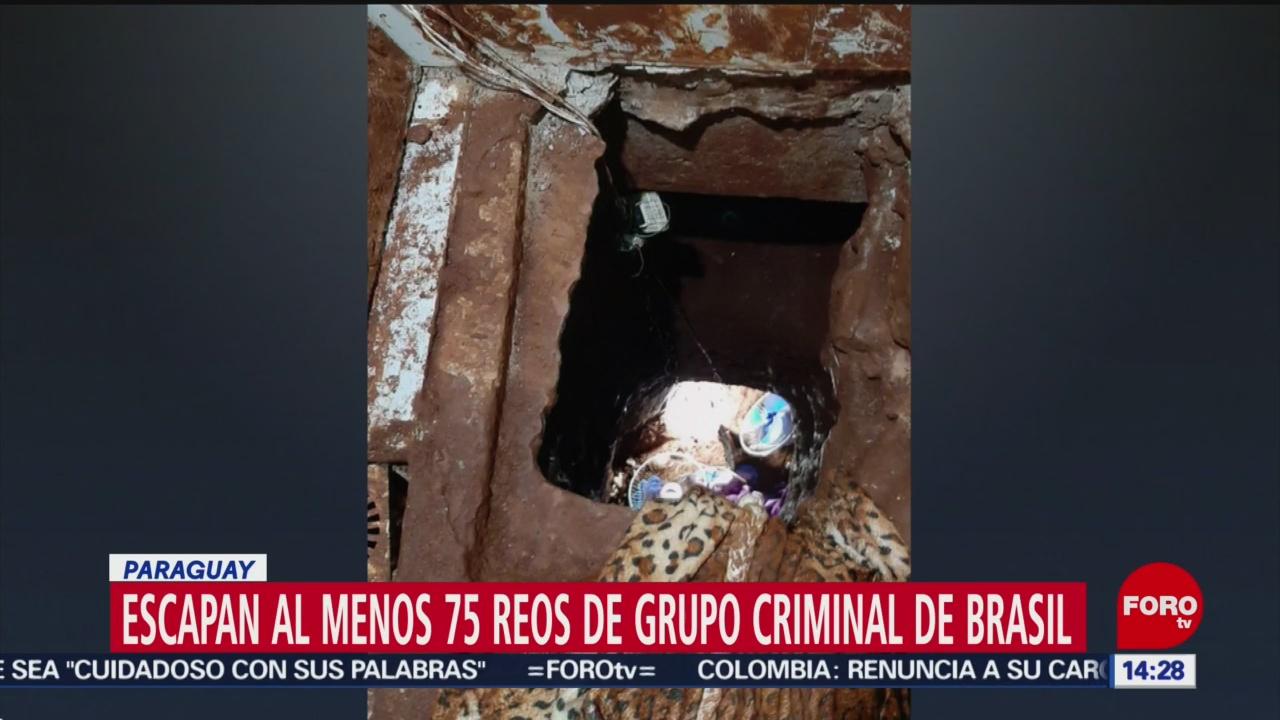 FOTO: 19 enero 2020, se fugan por tunel 75 reos de carcel en paraguay