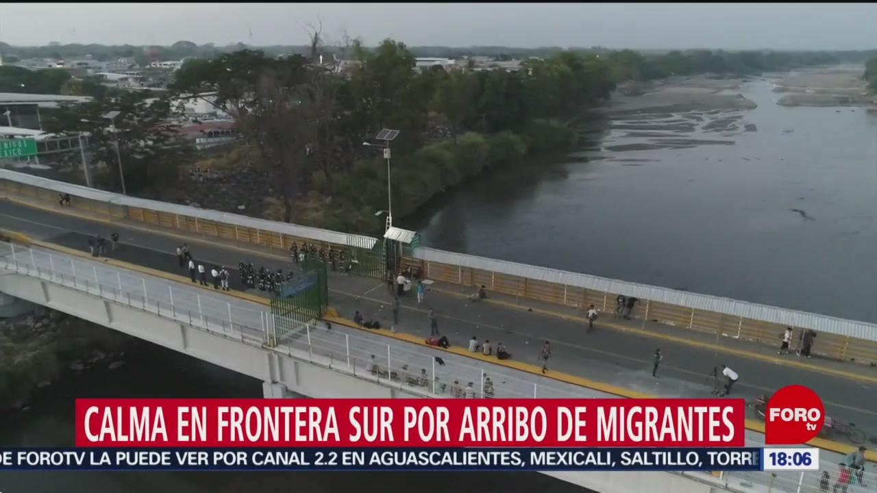FOTO: 18 enero 2020, se reabre puente fronterizo en ciudad hidalgo chiapas