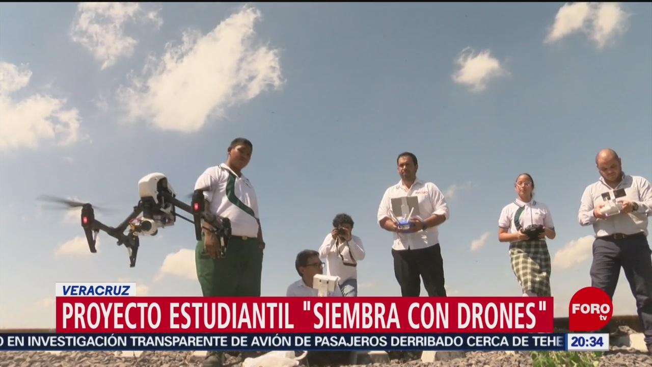 Foto: Siembra Con Drones Proyecto Alumnos Conalep 14 Enero 2020