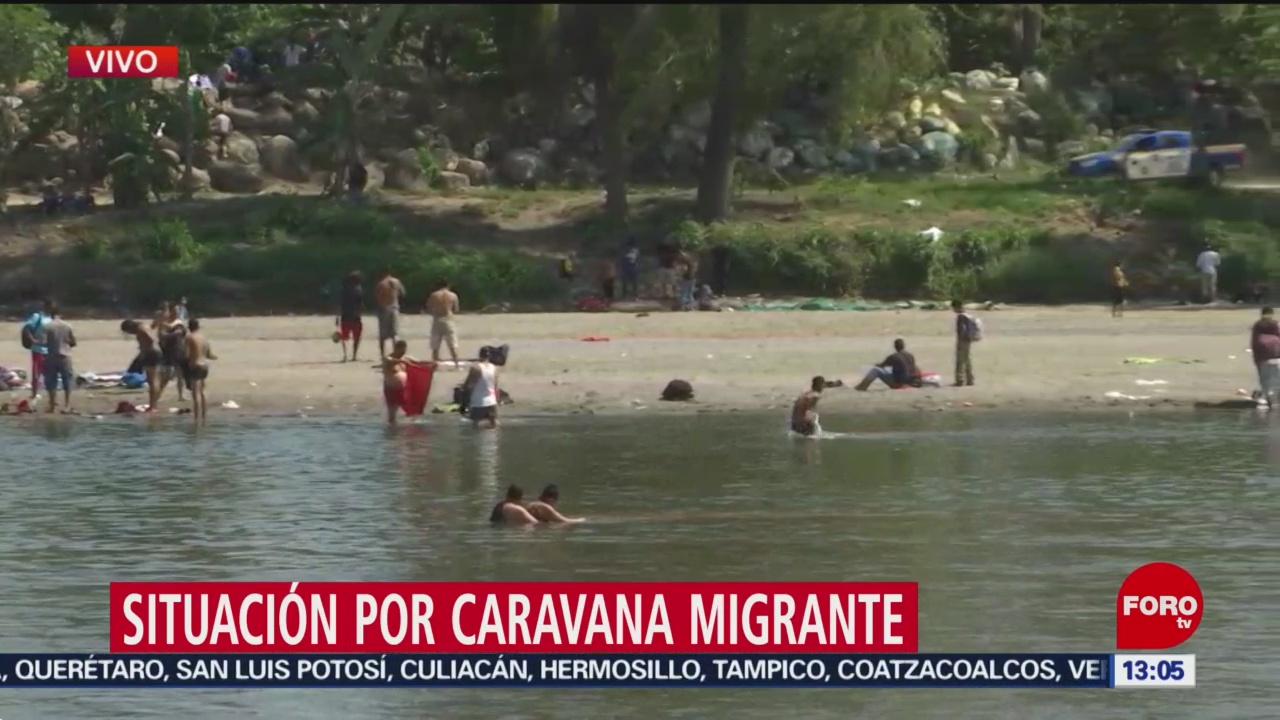 FOTO: 19 enero 2020, situacion de caravana migrante el domingo 19 de enero