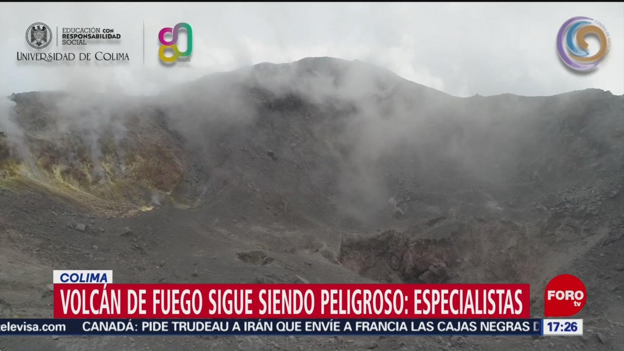 FOTO: volcan de fuego en colima sigue siendo peligroso