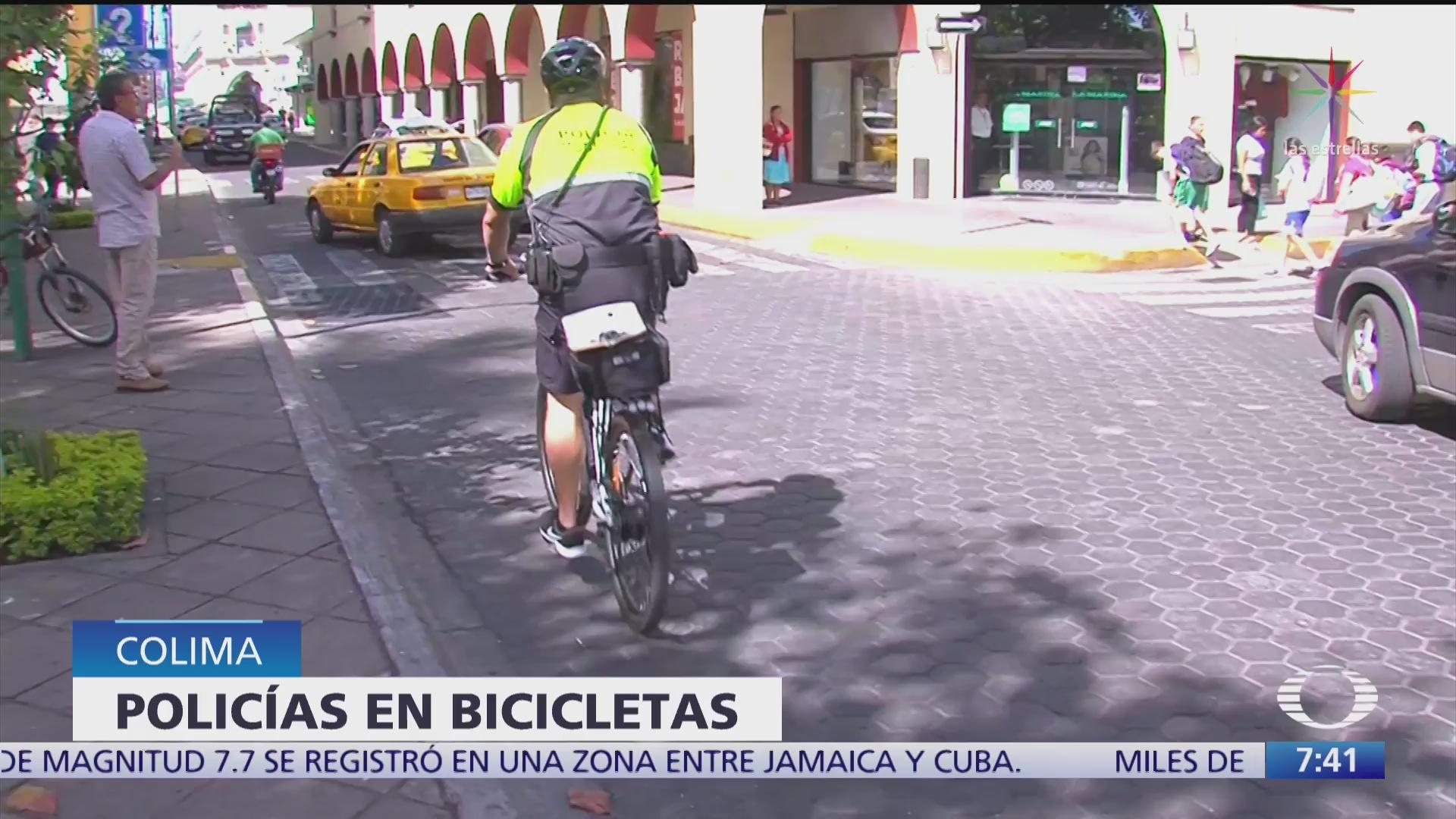 ya operan en colima policias con bicicletas electricas