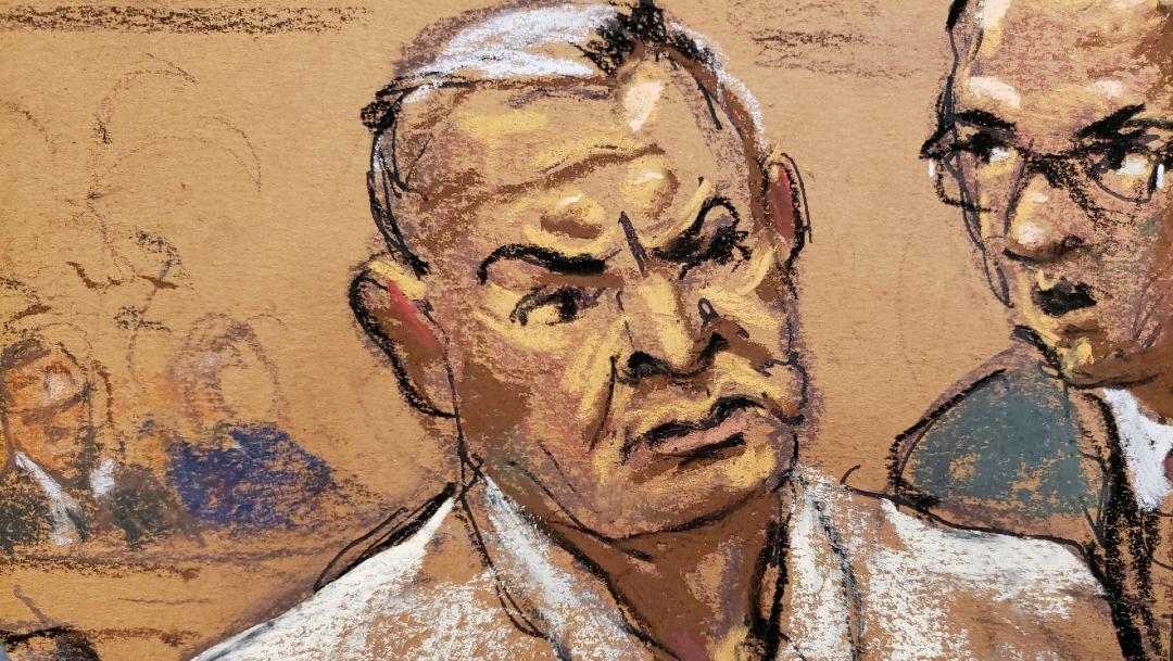 Genaro García Luna en una corte de Nueva York