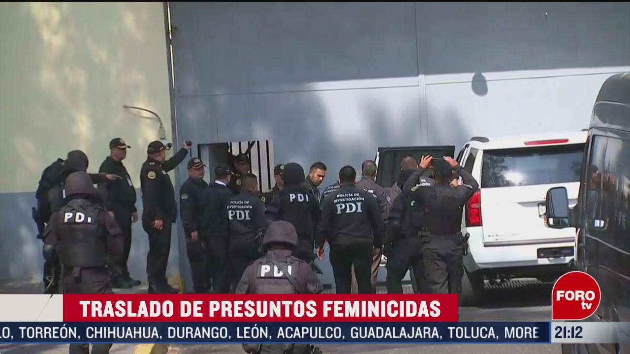Foto: Traslado Presuntos Feminicidas Niña Fátima 21 Febrero 2020