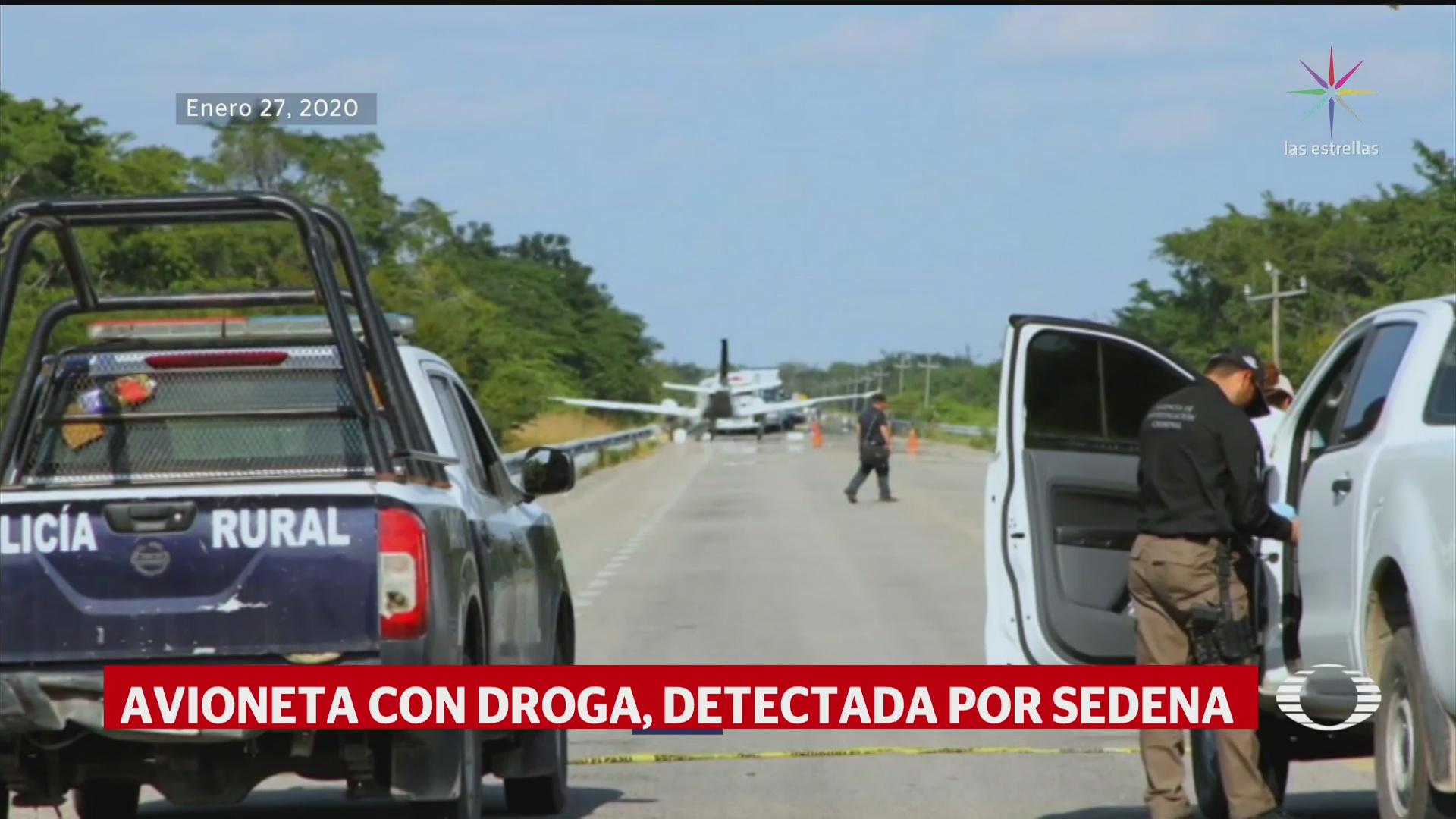 Foto: Video Interceptada Avioneta Droga Bacalar Quintana Roo 10 Febrero 2020