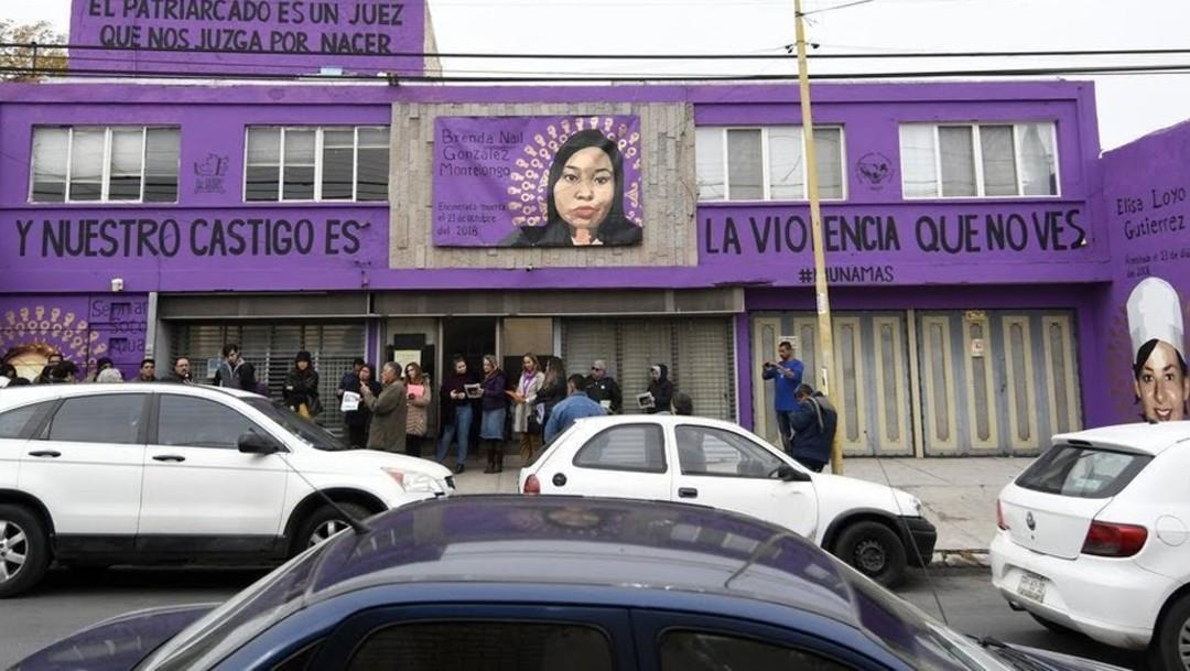 Autoridades de Saltillo piden borrar mural sobre feminicidio