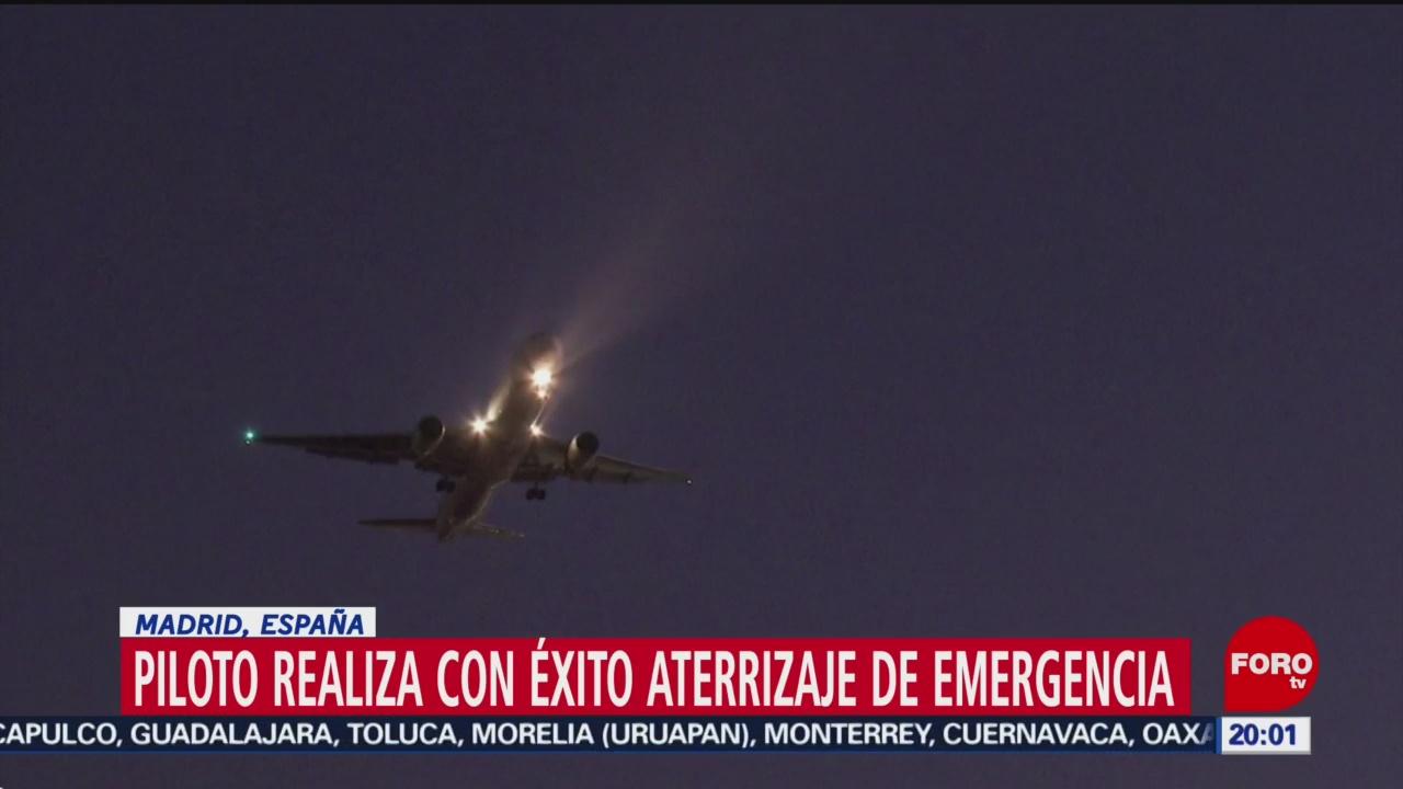FOTO: 3 Febrero 2020, avion de air canada aterriza con exito en espana