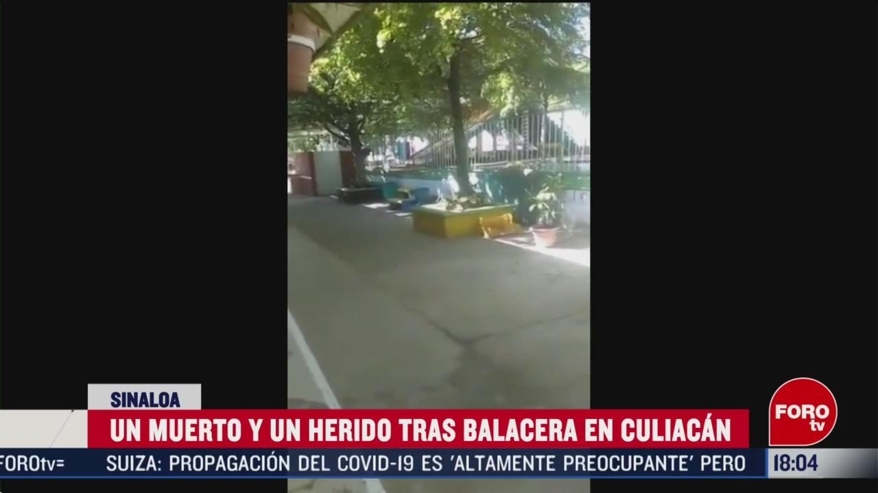 FOTO: balacera en culiacan deja un muerto y un herido