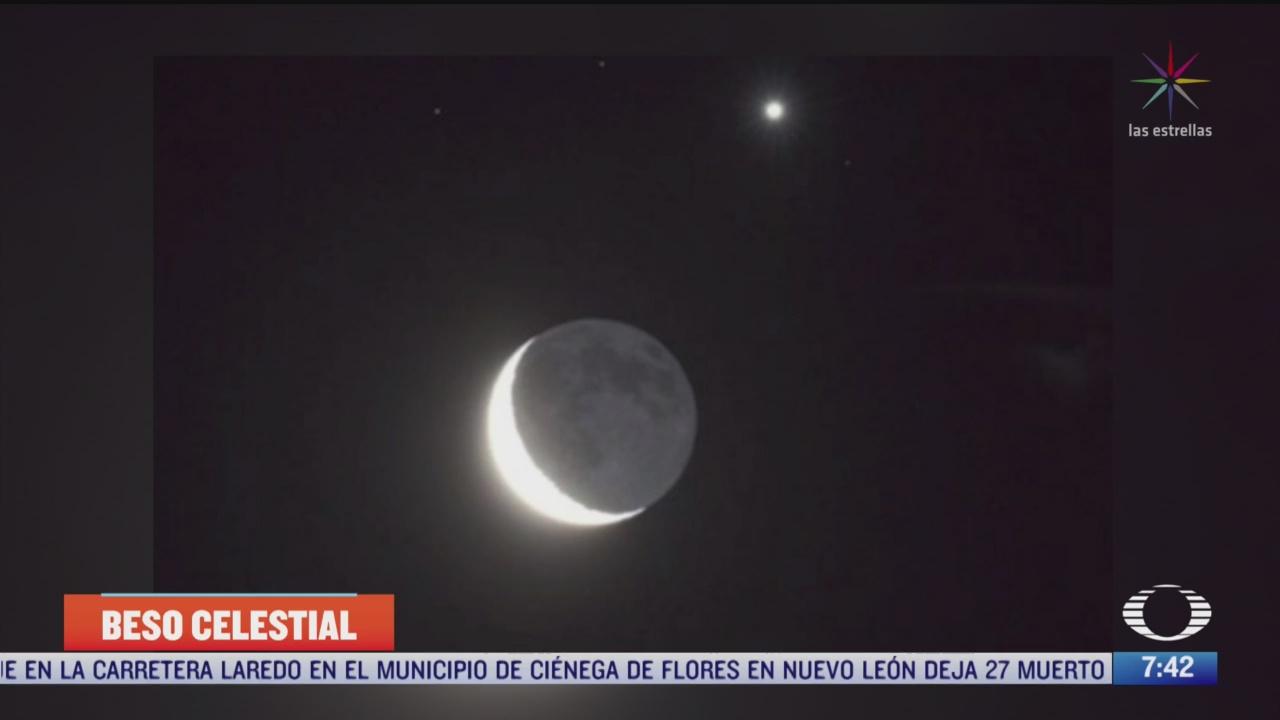 beso celestial conjuncion de la luna y venus sera visible en la tierra