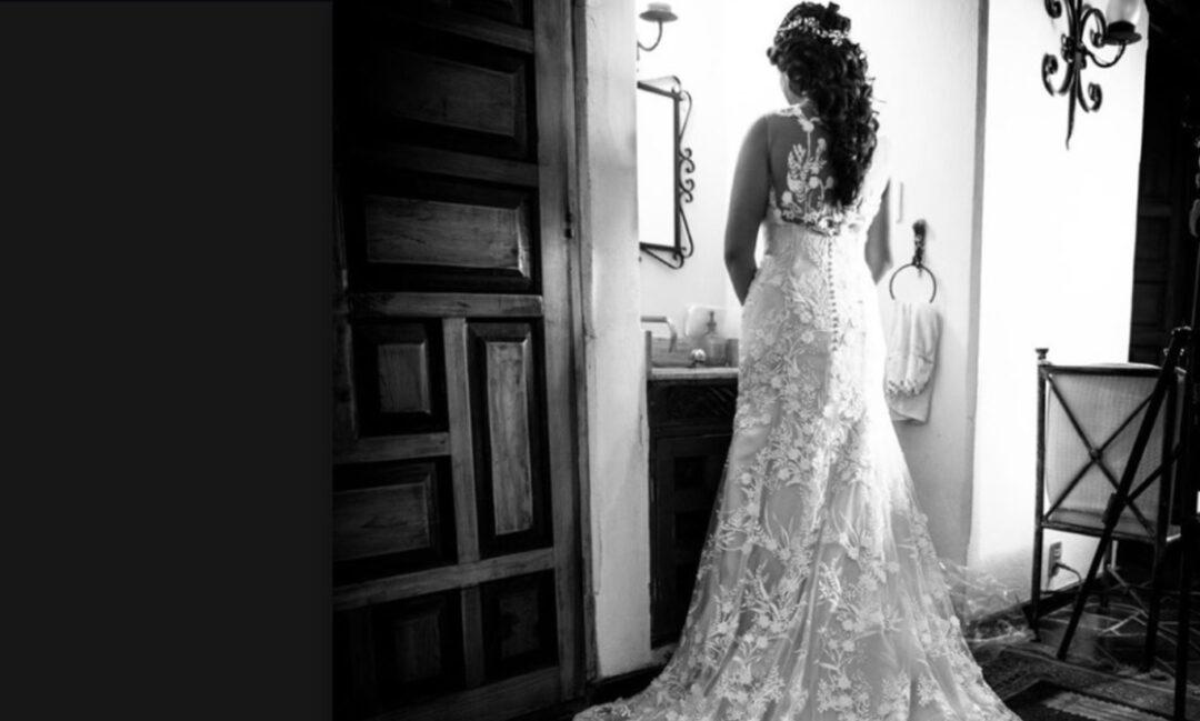 14 de febrero de 2020, vestido de novia (Imagen: Facebook MarLa Noriega)
