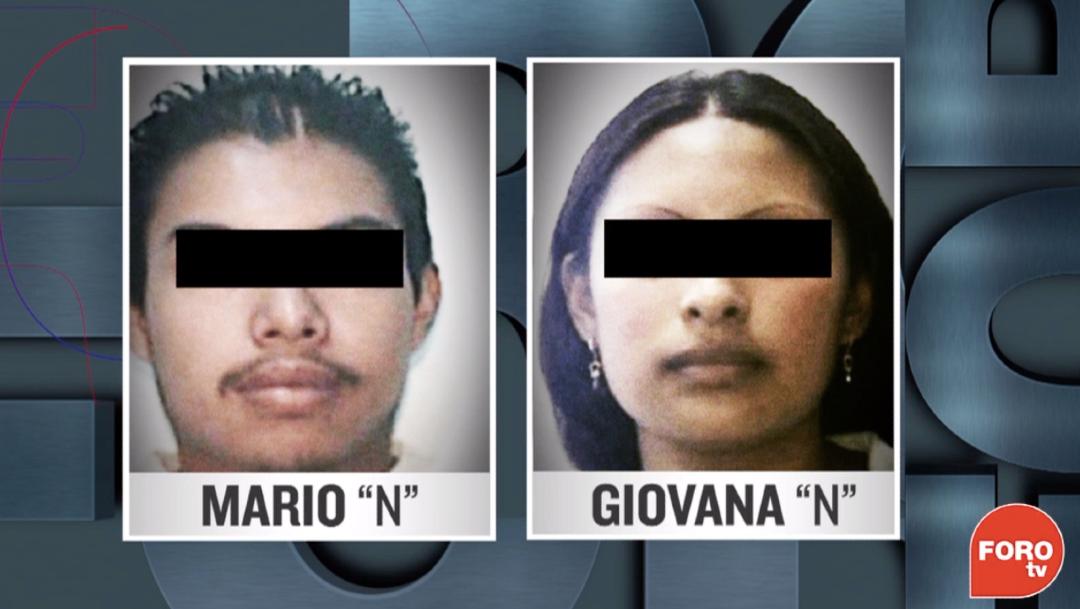 Mario y Giovana, presuntos feminicidas de la niña Fátima