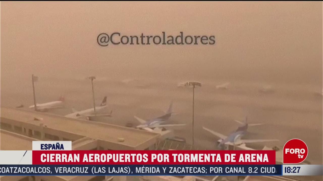 FOTO: 23 Febrero 2020, cierran aeropuertos en islas canarias por tormenta de arena