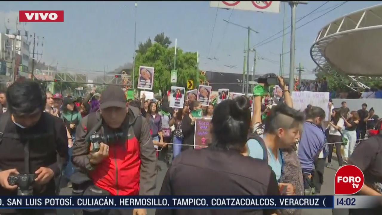 FOTO: 15 Febrero 2020, colectivos feministas marchan en honor a ingrid la joven asesinada por su pareja