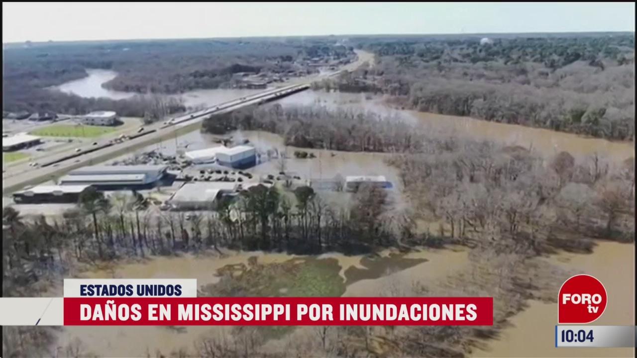 danos en mississippi por inundaciones