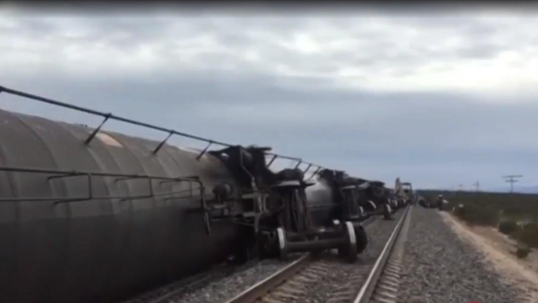 FOTO: Dos heridos por descarrilamiento de tren en Real de Catorce, SLP, el 01 de febrero de 2020