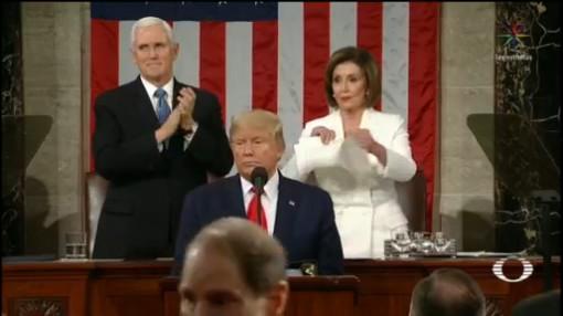 Foto: Donald Trump Rinde Tercer Discurso Estado Unión 4 Febrero 2020