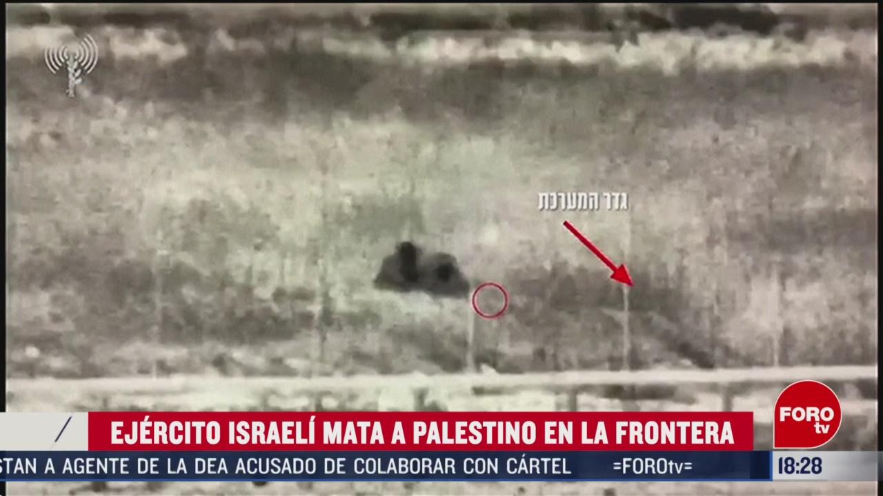 FOTO: 23 Febrero 2020, ejercito de israel mata a palestino en la franja de gaza
