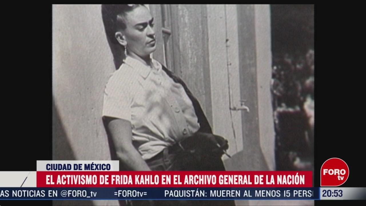 Foto: Activismo Frida Kahlo Archivo General De La Nación 28 Febrero 2020
