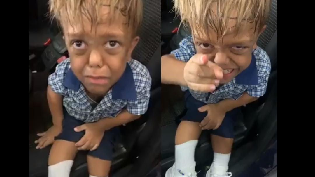 Foto: Niño le ruega a su mamá que le dé una soga para suicidarse porque sufre burlas en la escuela por tener enanismo, 20 febrero 2020