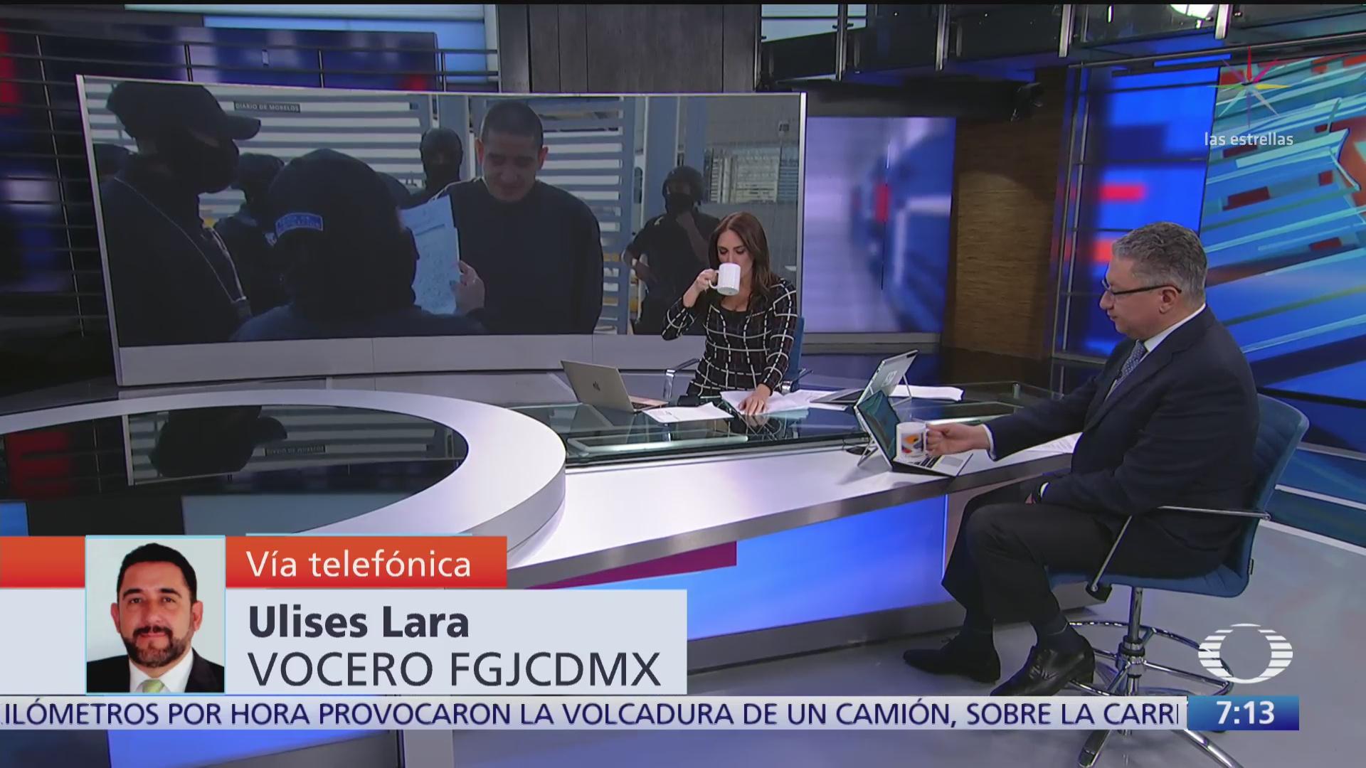 entrevista con ulises lara vocero de la fiscalia cdmx sobre el lunares