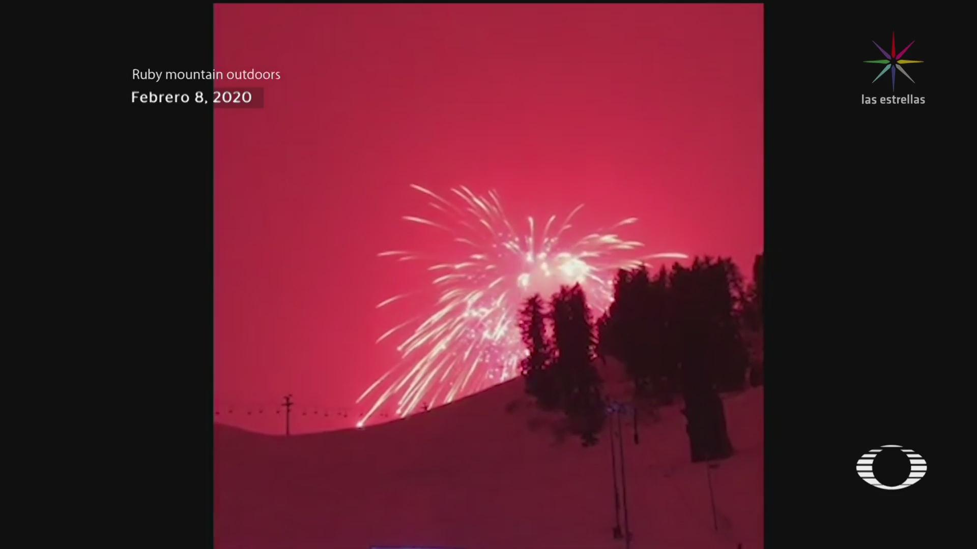 Foto: Fuego Artificial Lanzado Colorado Rompe Récord Más Grande Mundo 10 Febrero 2020