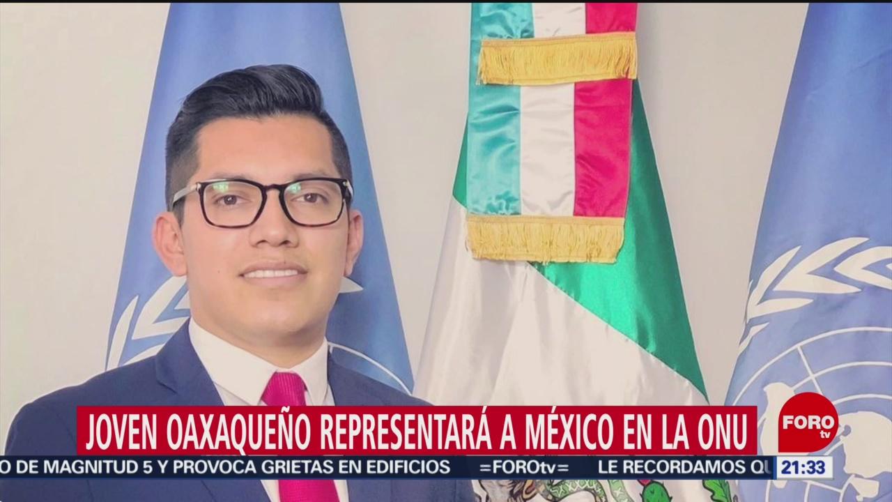 Foto: Joven Oaxaqueño Representará México Onu 4 Febrero 2020