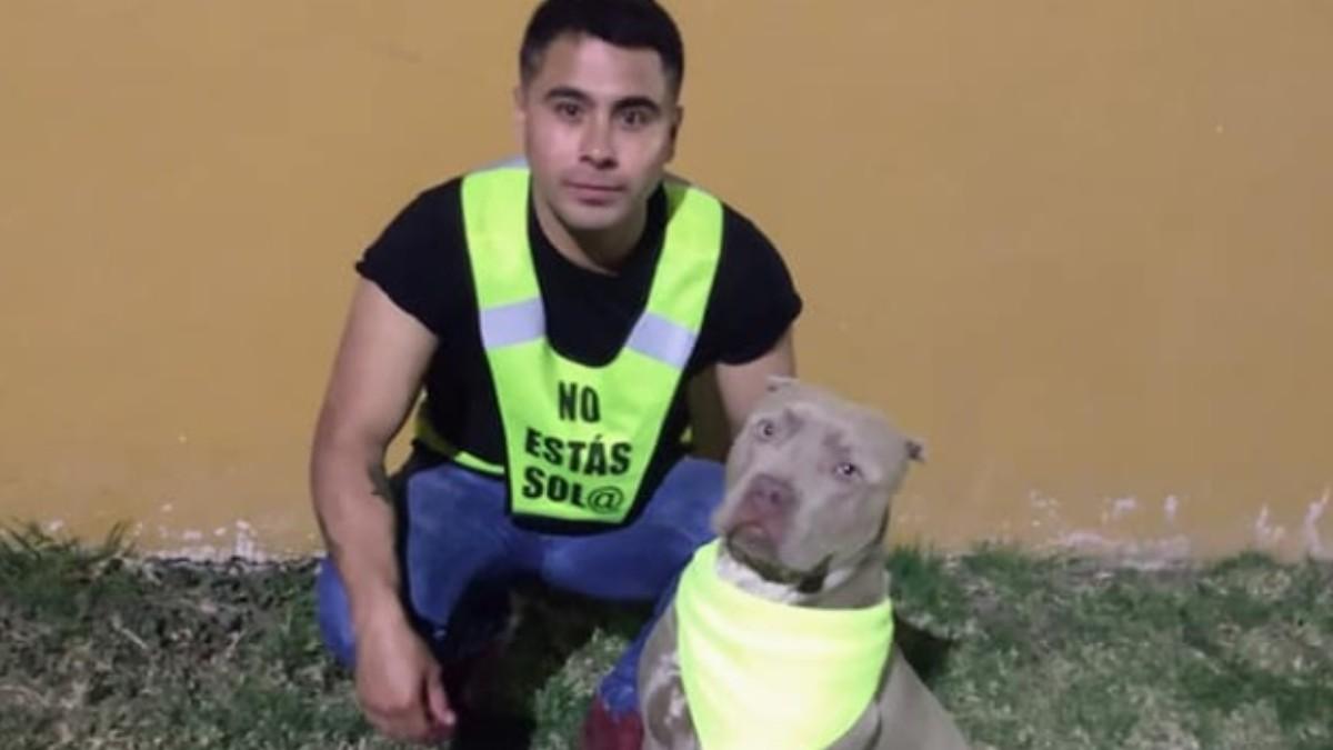 Joven y su pitbull ofrecen protección a vecinos de Morelia