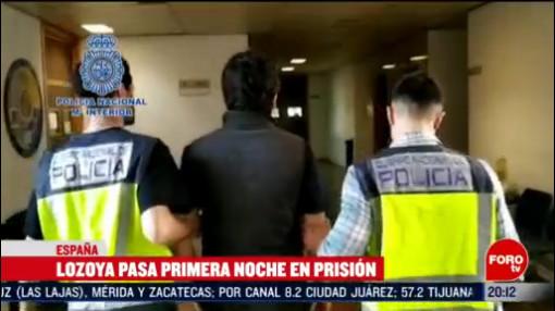 Foto: Emilio Lozoya Primera Noche Prisión España 13 Febrero 2020