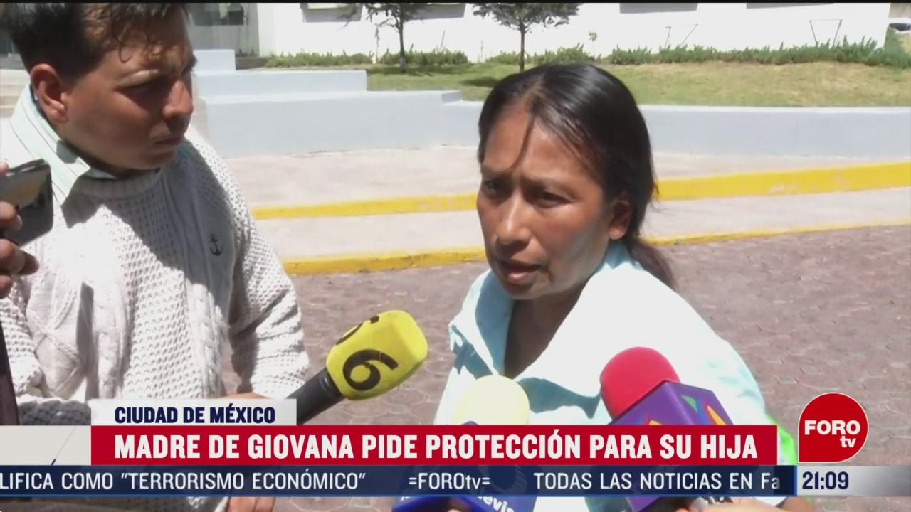 Foto: Madre Giovana Feminicida Fátima Pide Protección Hija 25 Febrero 2020