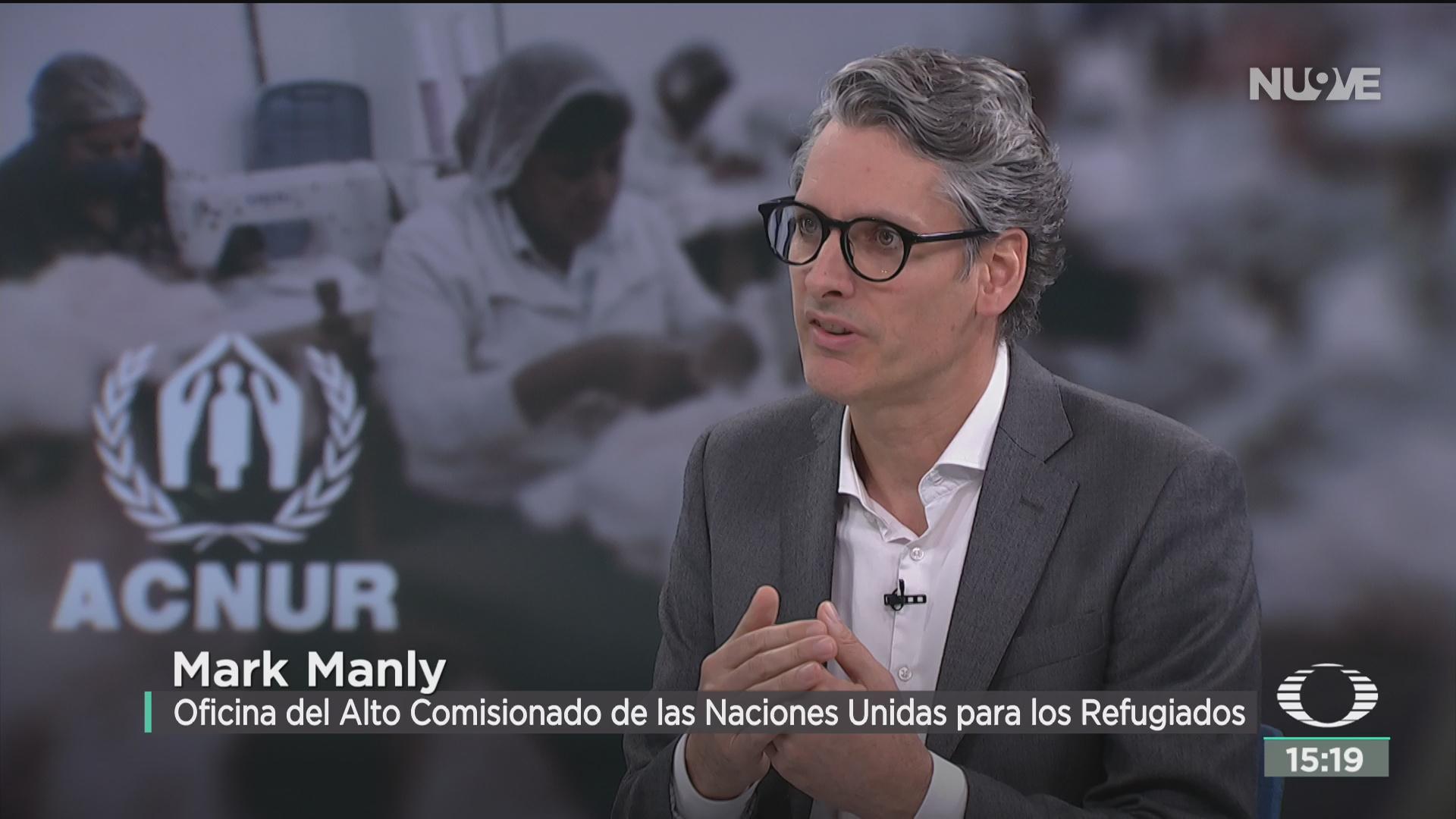 FOTO: mark manly habla sobre el proyecto para incorporar a refugiados a la economia