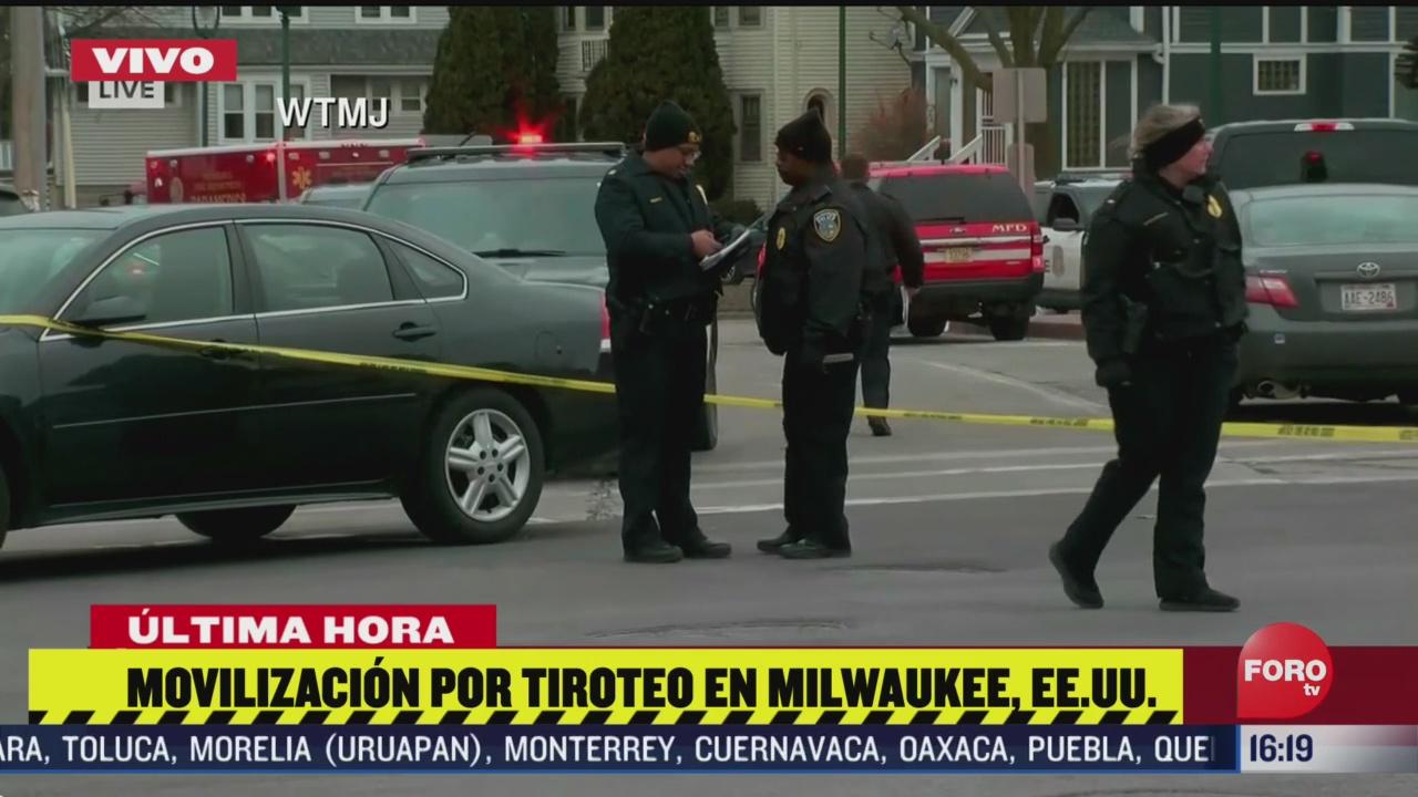 FOTO: movilizacion policiaca en eeuu por tiroteo en una fabrica