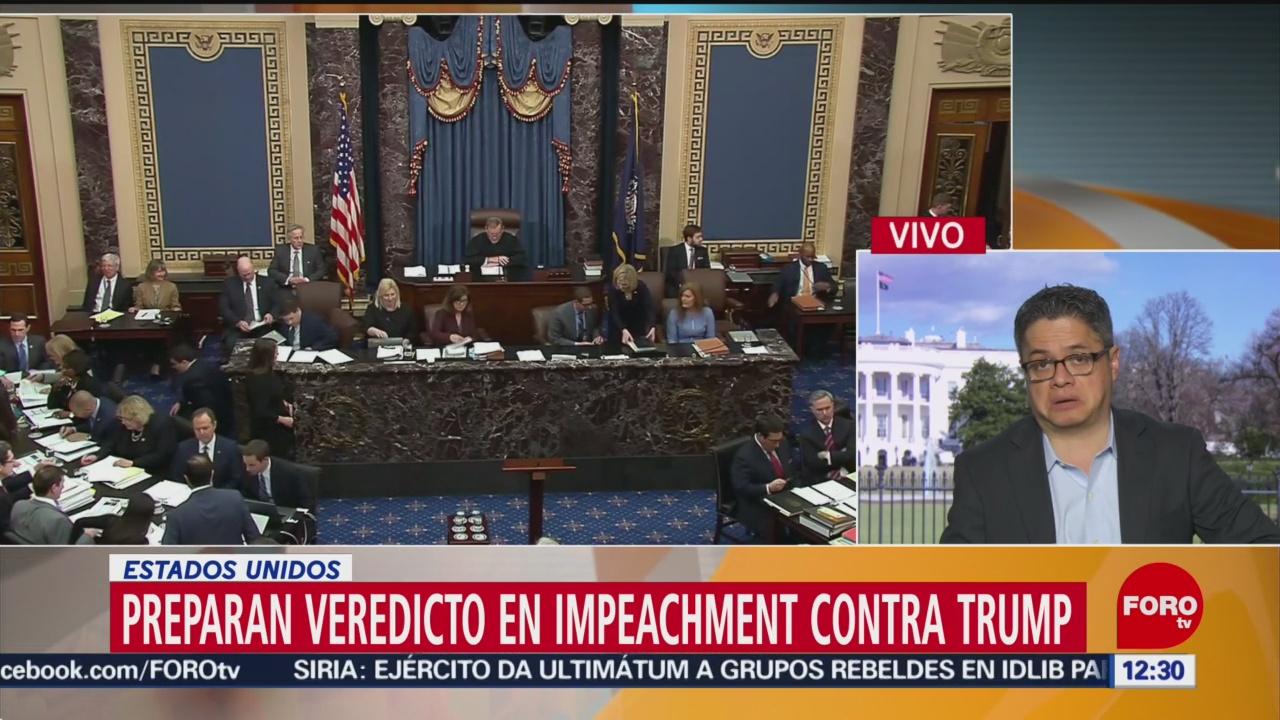 preparan veredicto en impeachment contra donald trump
