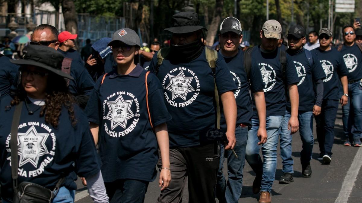 Policías federales inconformes alistan nuevas movilizaciones