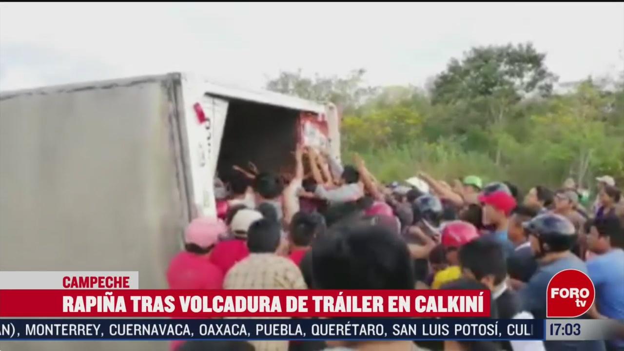FOTO: 15 Febrero 2020, saquean mercancia de trailer que transportaba pan