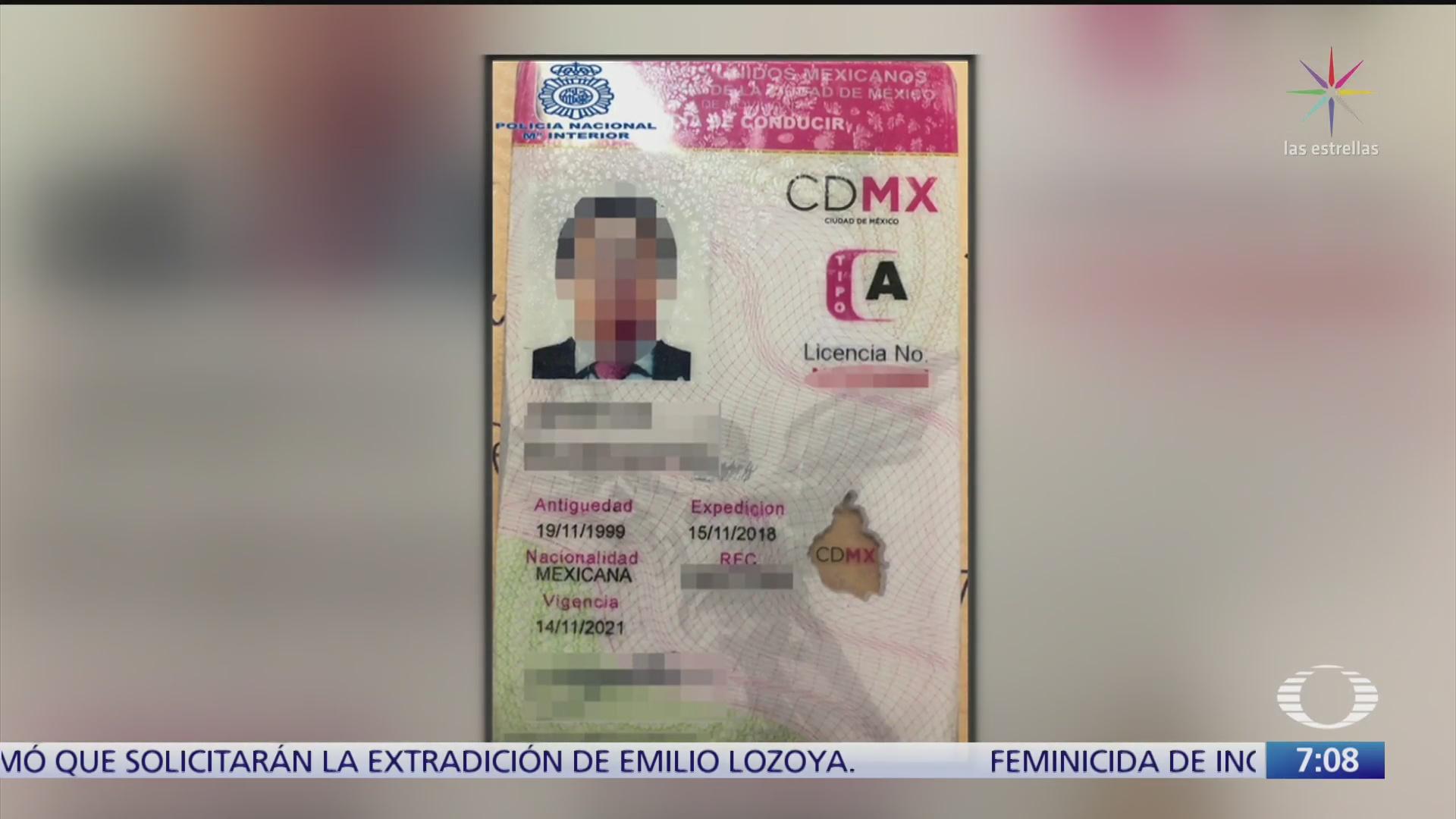 semovi investiga licencia de conducir que presento emilio lozoya durante detencion