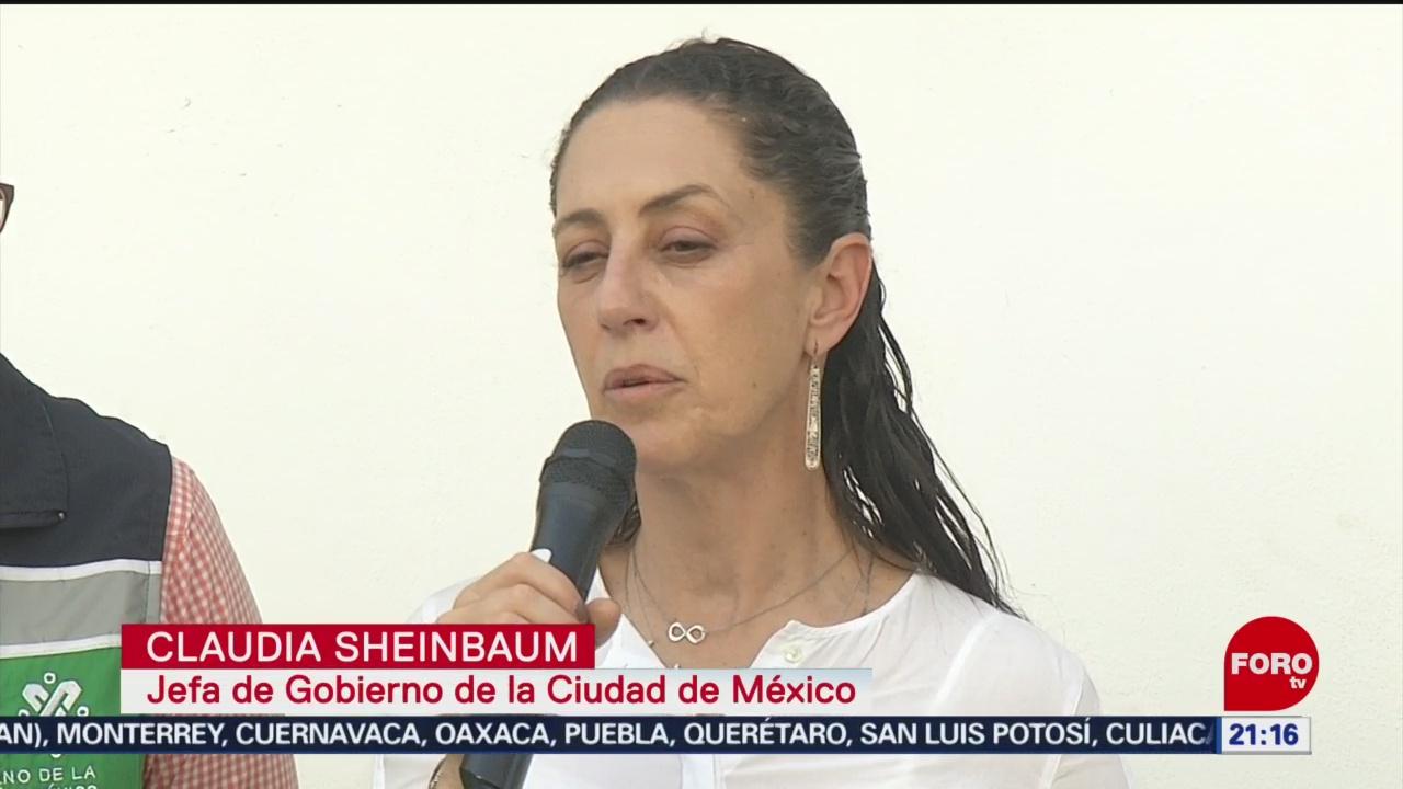 Foto: Claudia Sheinbaum Da Razón Padres Rébsamen Sismo 8 Febrero 2020