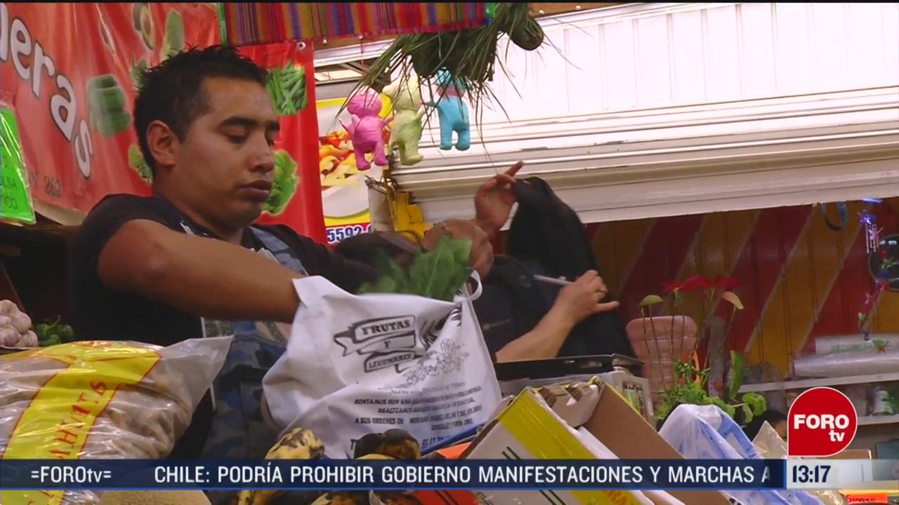 FOTO: siguen usando bolsas de plastico en la cdmx