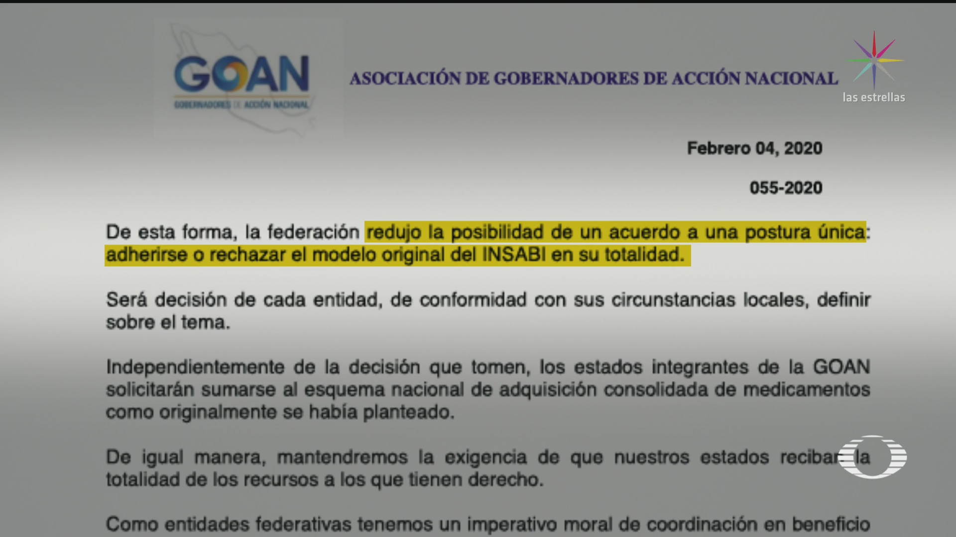 Foto: Insabi Concluye Reunión Gobernadores Panistas Amlo 4 Febrero 2020
