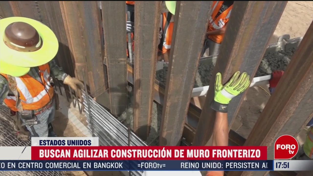 FOTO: trump busca agilizar construccion de muro fronterizo