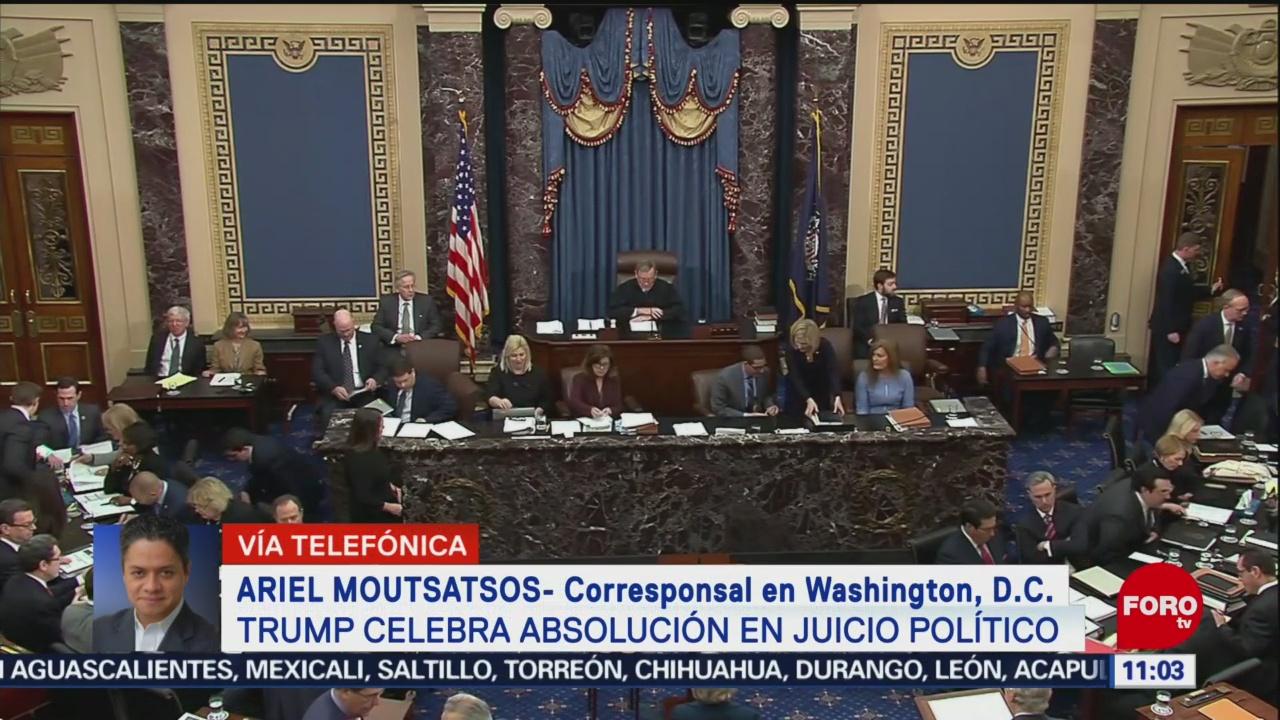 trump celebra absolucion en juicio politico