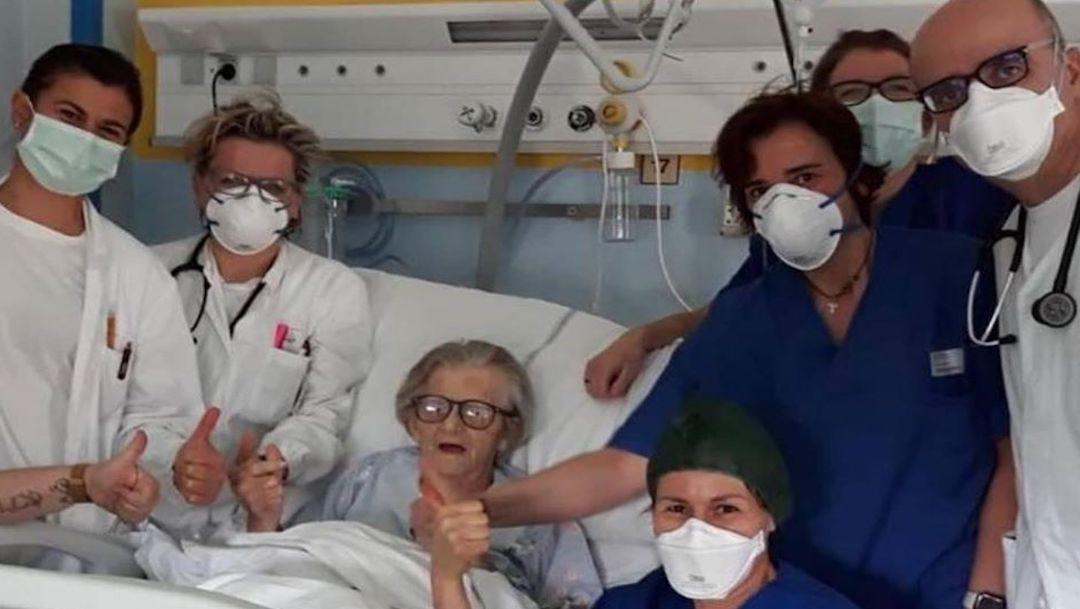 Foto Abuela de 95 años se curó de Coronavirus en Italia 23 marzo 2020