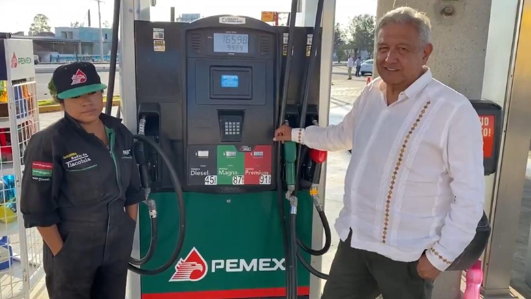 Foto: El presidente Andrés Manuel López Obrador habló sobre el precio de la gasolina en México, 22 marzo 2020