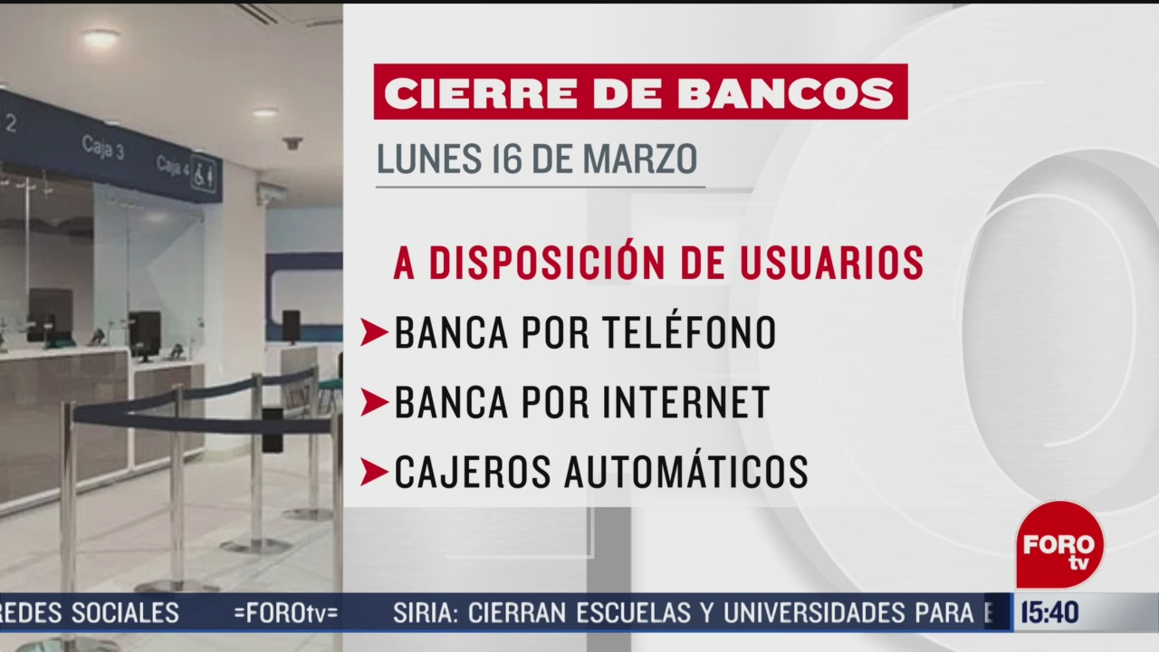 FOTO: bancos no abriran el proximo lunes por dia feriado