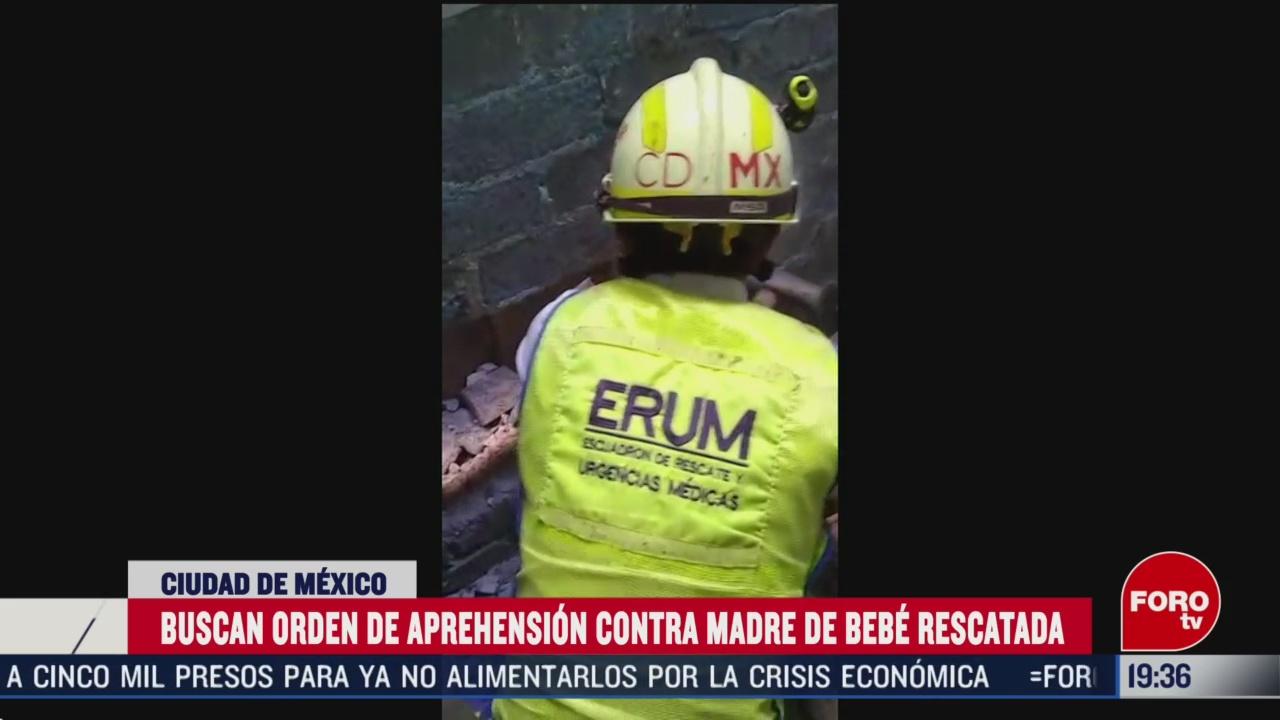 Foto: Orden Aprehensión Contra Madre Bebé Rescatada Construcción 5 Marzo 2020
