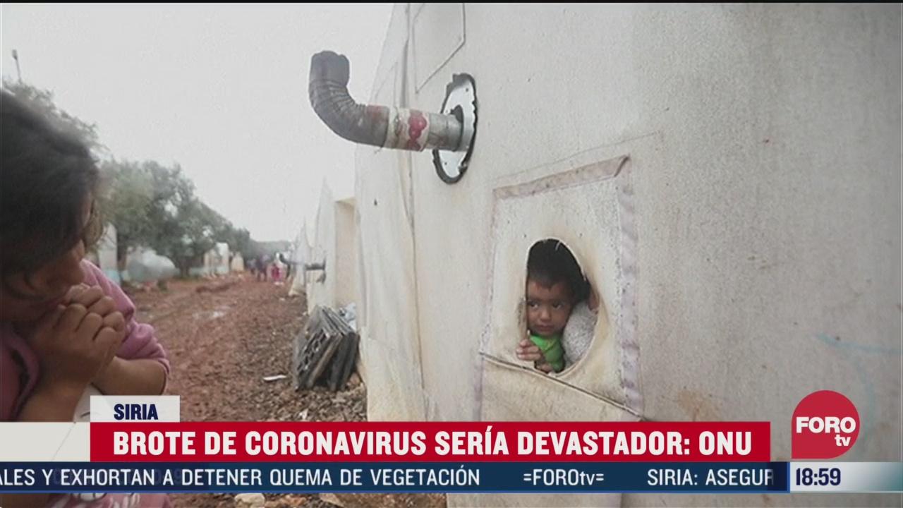 FOTO: coronavirus seria devastador para siria segun la oms