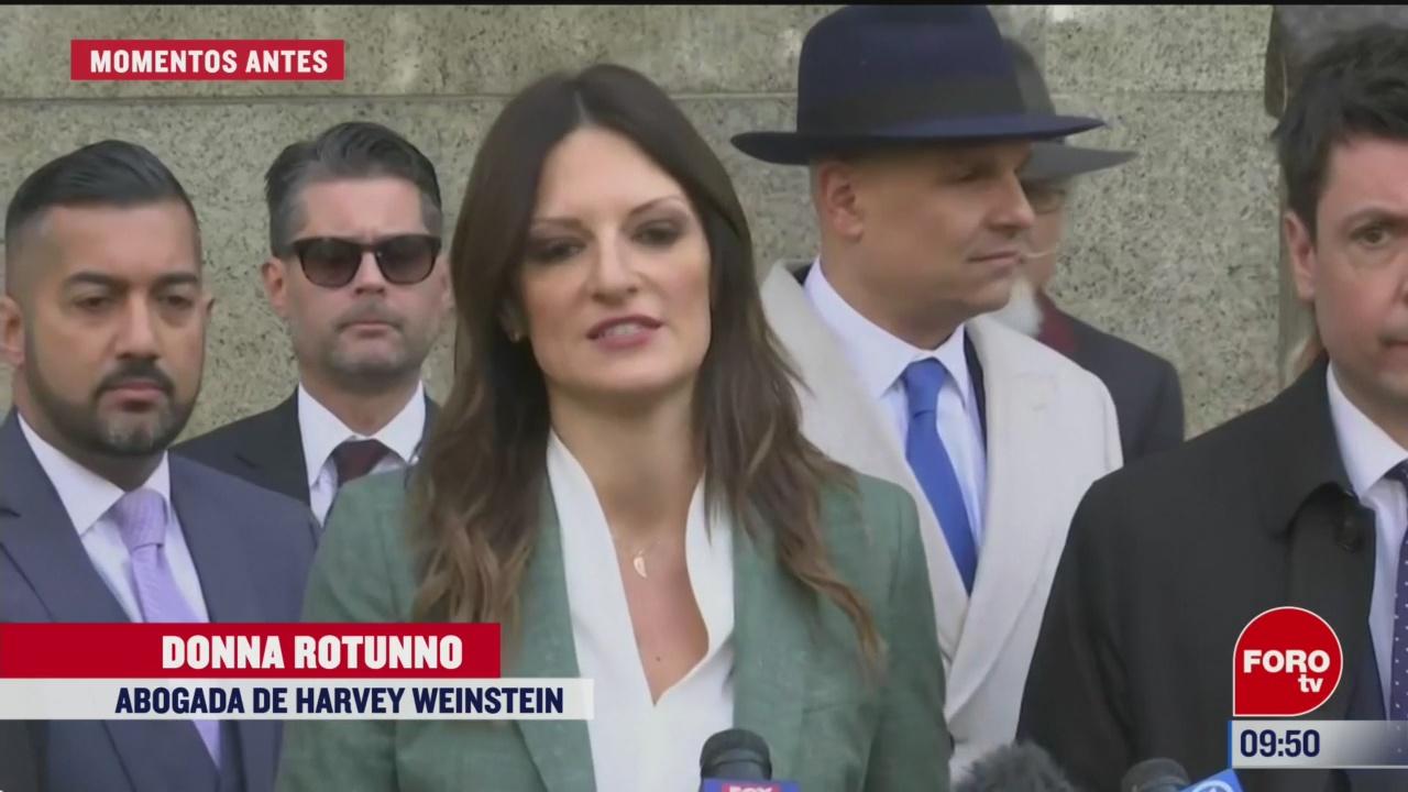 defensa de harvey weinstein considera que sentencia es muy dura