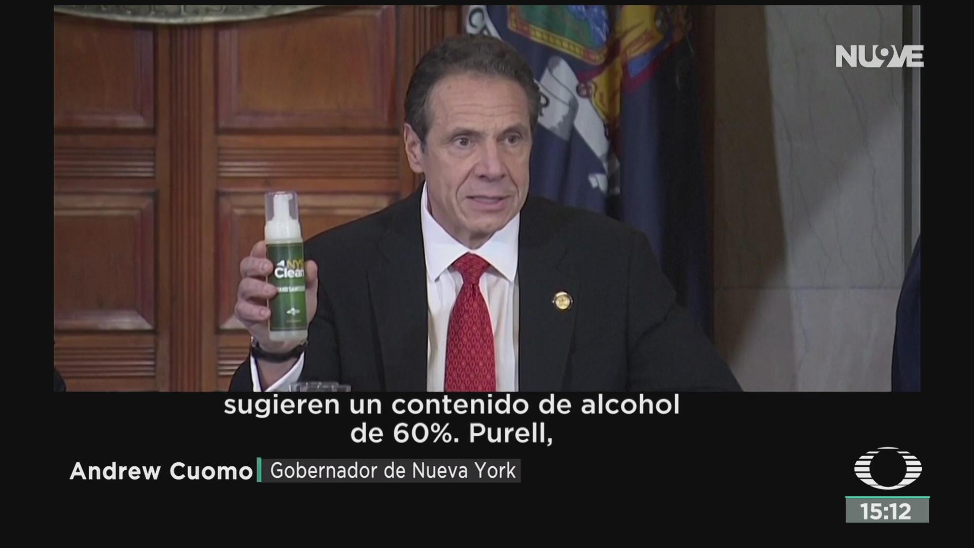 FOTO: desabasto de gel antibacterial en nueva york
