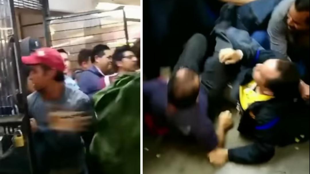 Video: Estampida se desata en Metro Pantitlán