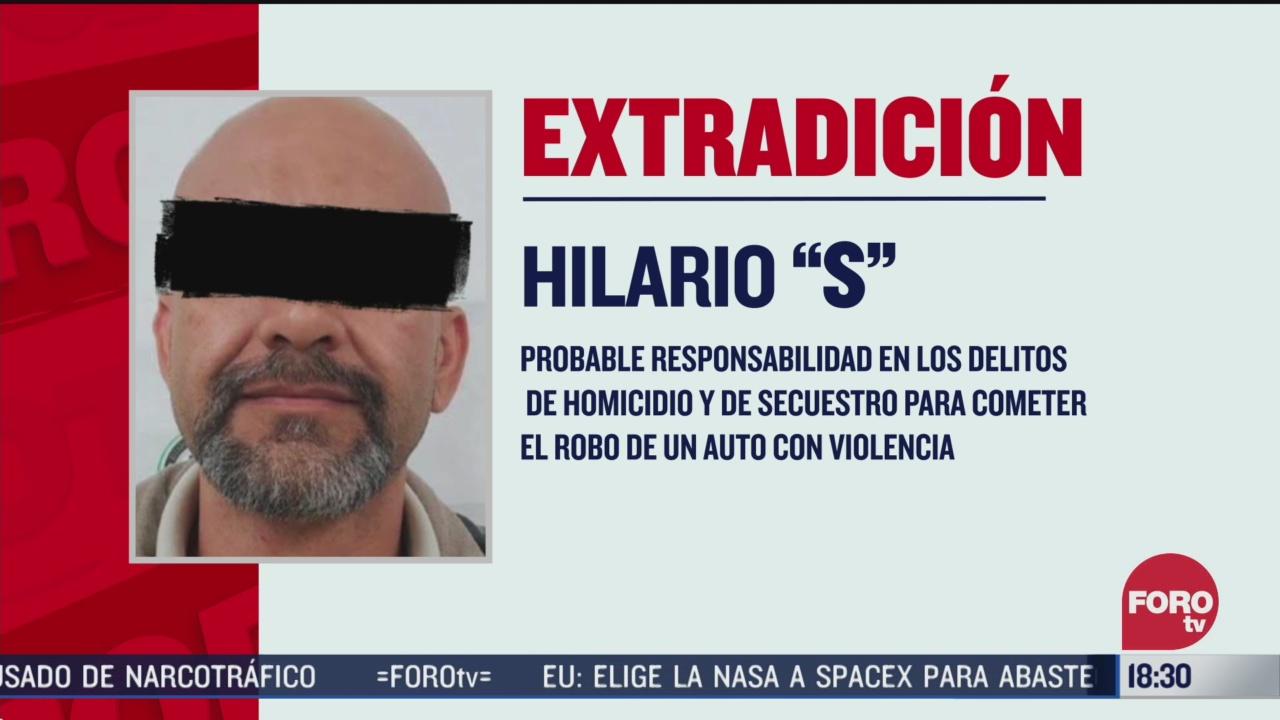 FOTO: extraditan a eeuu a mexicano acusado de homicidio y secuestro