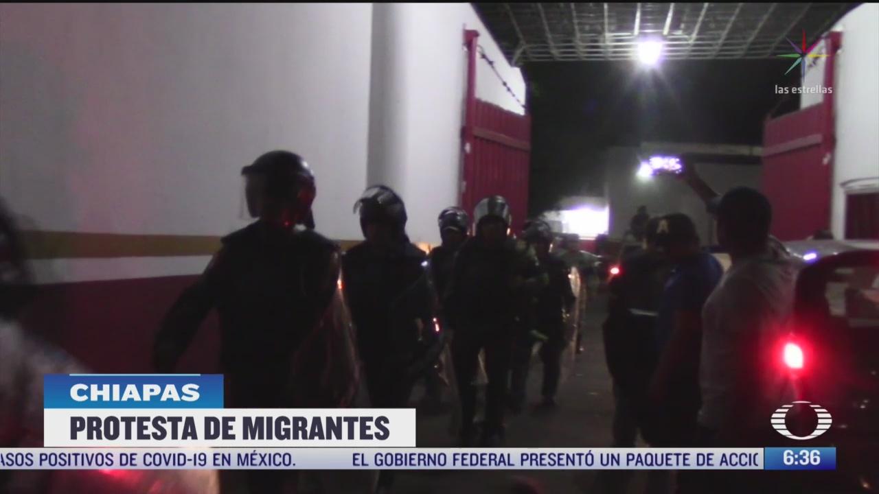 migrantes se amotinan en tapachula chiapas